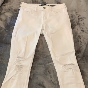 Hollister Ripped Low-rise Super Skinny Jeans
